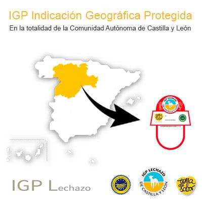Área Geográfica IGP Lechazo